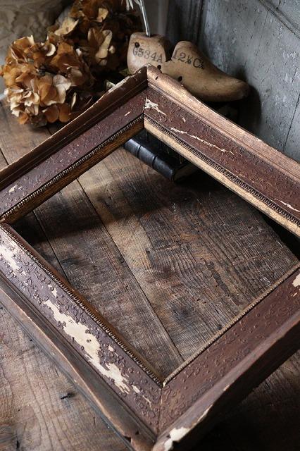 おしゃれ 古いフレーム 木製フレーム 在庫一掃売り切りセール 日本の古い ブラウンのフレーム RE191 店