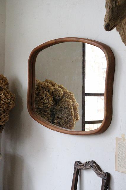市販 おしゃれ ミラー 公式ストア 鏡 ナチュラルな壁掛けミラー チーク材 S120