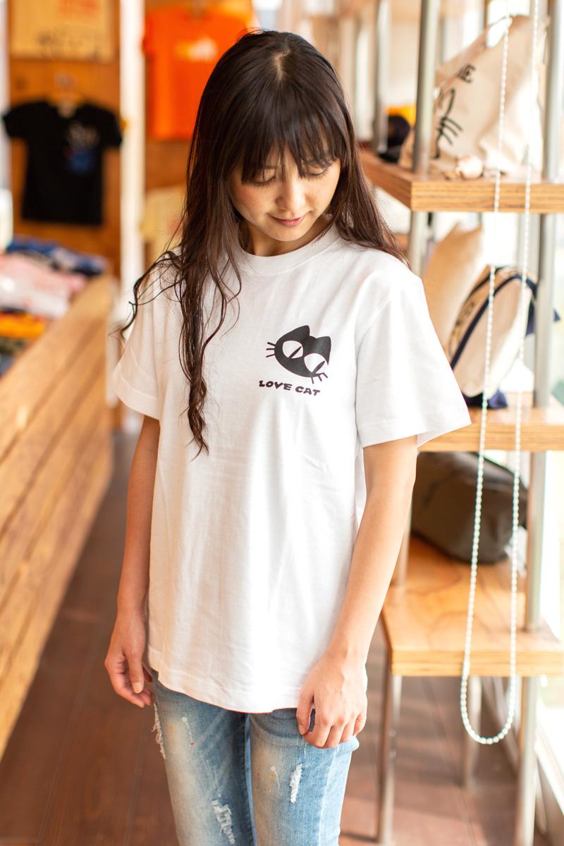 c6e12488ea ... Cat cat T-shirt LOVE CAT (white) | Cat cat pattern cat miscellaneous ...