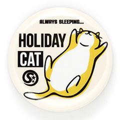 猫好きのねこ好きによるネコ好きのための猫雑貨・猫グッズ猫好きのための猫缶バッチ! 【 9/21 10時マデ クーポンで 最大5%OFF 】 猫 ねこ おもしろ かわいい 缶バッチ HOLIDAY CAT | ネコ 猫柄 猫雑貨 猫グッズ | おしゃれ 【メール便】 SCOPY / スコーピー