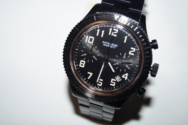 キャサリンハムネット KATHARINE HAMNETT リストウォッチ 08 腕時計 メンズ クロノグラフ 日本製