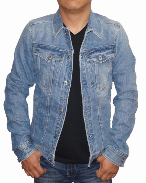 ジースターロウ G-STAR RAW デニムジャケット ユーズド加工 D04903 メンズ 春物 秋物 ジースターロゥ ジージャン Gジャン トラックジャケット