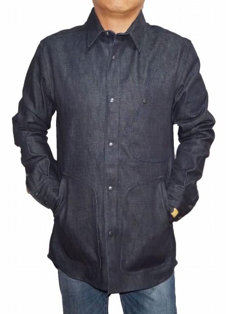 ジースターロウ G-STAR RAW by マークネルソン オーバーシャツ ジャケット カバーオール メンズ インディゴ 春物 秋物 ネイビー セルビッチデニム