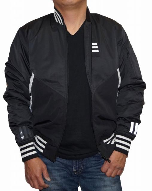 【中古】アディダス adidas × ホワイトマウンテニアリング ジャケット MA-1 黒 メンズ BQ4077 オリジナルス White Mountaineering 冬物 秋物 防寒 防風 耐寒 保温