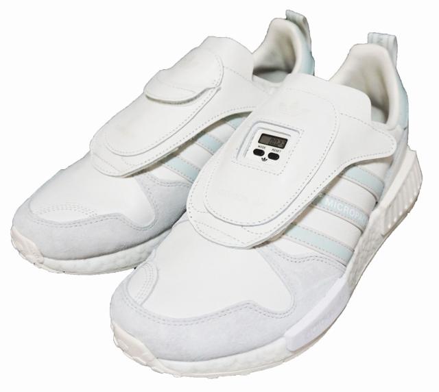 【中古】アディダス adidas オリジナルス スニーカー マイクロペーサー 白 G28940 MICROPACERxR1 ホワイト 靴 originals トレフィル シューズ ブースト メンズ