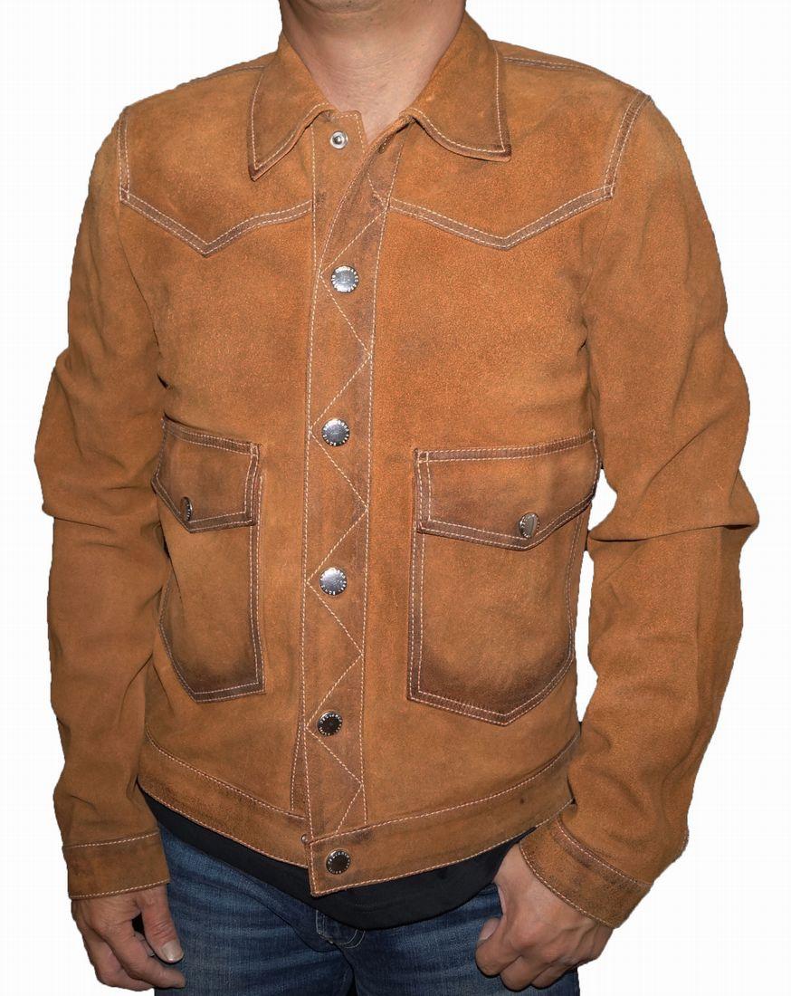 ディースクエアード DSQUARED2 本革 レザージャケット ユーズド加工 茶 メンズ 秋物 冬物 ブラウン 男性用