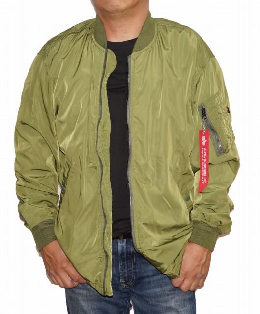 アルファ ALPHA ジャケット カーキ メンズ TA1316-049 ミリタリー春物 秋物 冬物 グリーン MA-1
