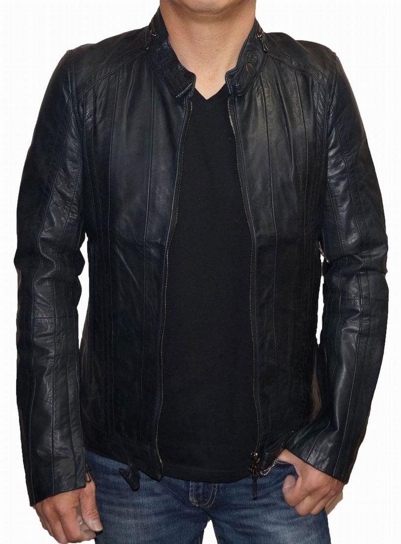 シュリセル SCHLUSSEL 本革 レザージャケット ライダース メンズ 山羊革 男性用 シングル 冬物 0147