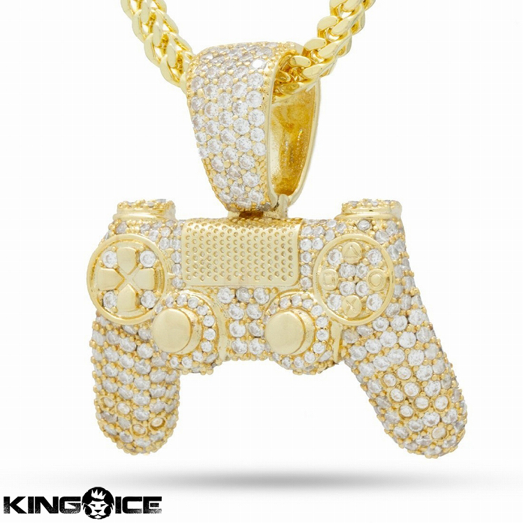 King Ice×PlayStation キングアイス プレイステーション ネックレス ゴールド VVS Diamond