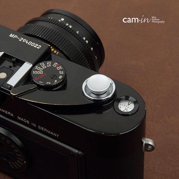 cam-in 全品最安値に挑戦 ソフトシャッターボタン レリーズボタン オリジナル 感謝価格 シルバー - CAM9016 凹面