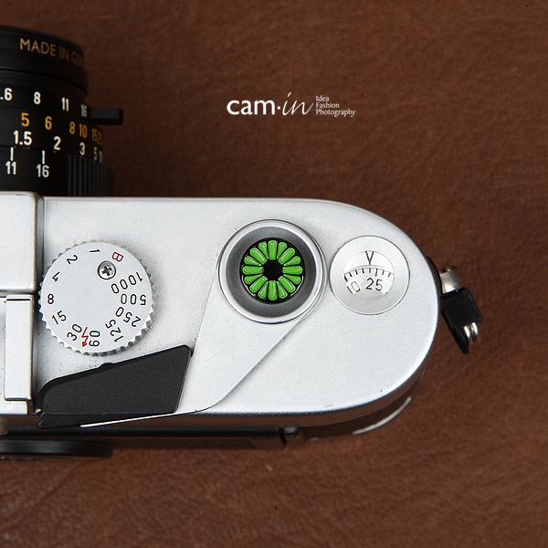(訳ありセール 格安) cam-in 10%OFF ソフトシャッターボタン レリーズボタン 創作型 緑の花 CAM9116 -