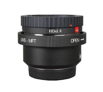 マウントアダプター IB/E OPTICS HDx1.4 + UMS-MFT 2/3型B4マウントENG HDレンズ - PL(UMS)+マイクロフォーサーズ(MFT)マウントカメラ Blackmagic Studio Camera 4K / Studio Camera HD / Pocket Cinema Camera対応
