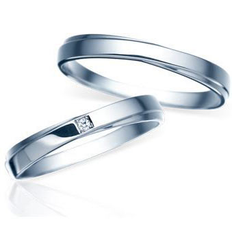 Pair Of Wedding Rings For Women PT900 Platinum And April Birthstone Amp Diamond Cn 081 Stamp Characters Put Free Memorial Day Birthday Gifts