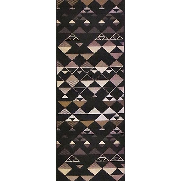 半幅帯 正絹「エレガンスうろこ」 黒系 京玉響 西陣織