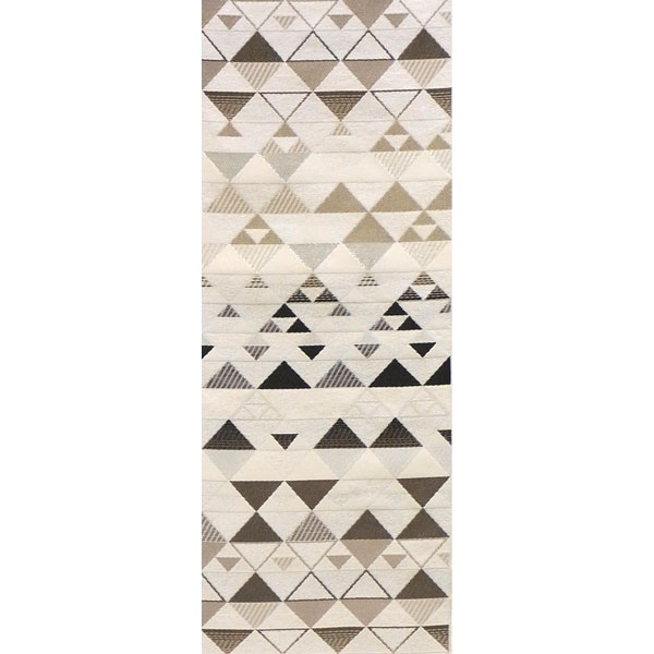 半幅帯 正絹「エレガンスうろこ」 白系 京玉響 西陣織