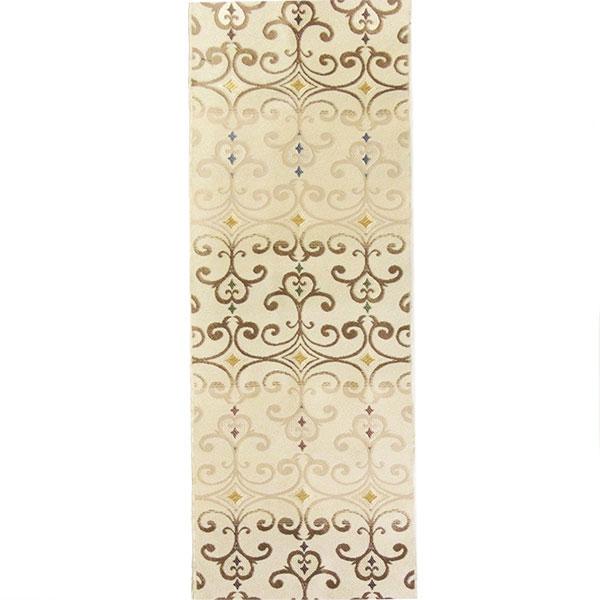半幅帯 正絹「ペルシャ華紋」 白系 京玉響 西陣織