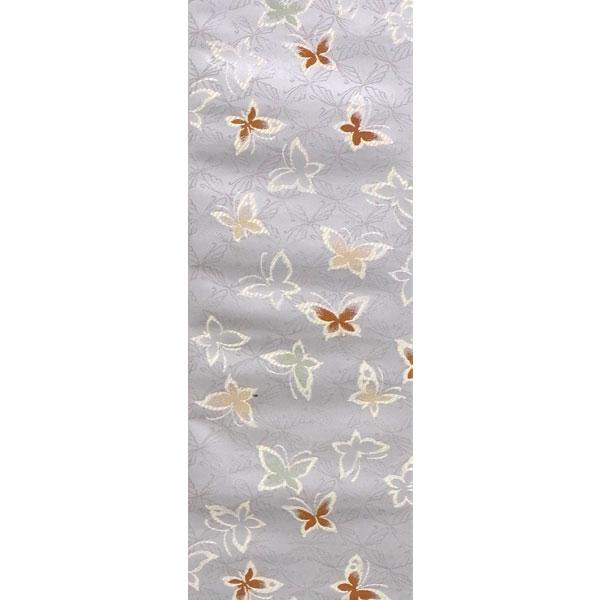 半幅帯 正絹「蝶」 鼠系 京玉響 西陣織