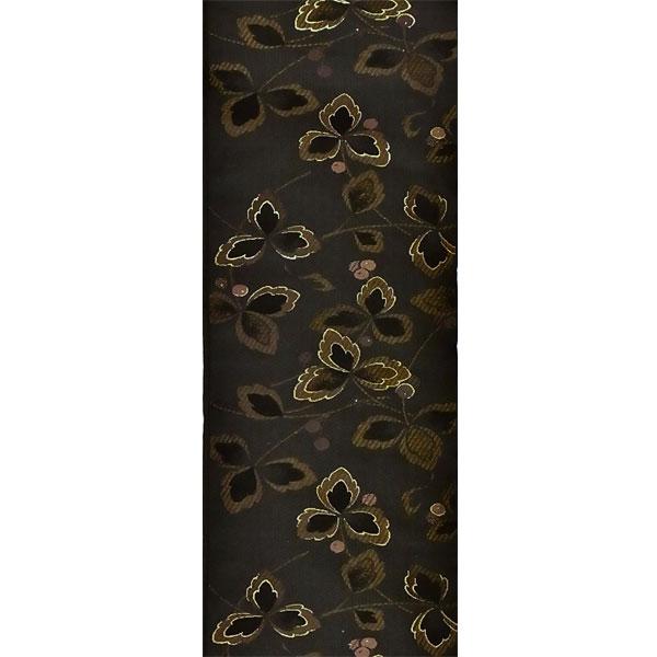 半幅帯 正絹「万葉」 黒系 京玉響 西陣織