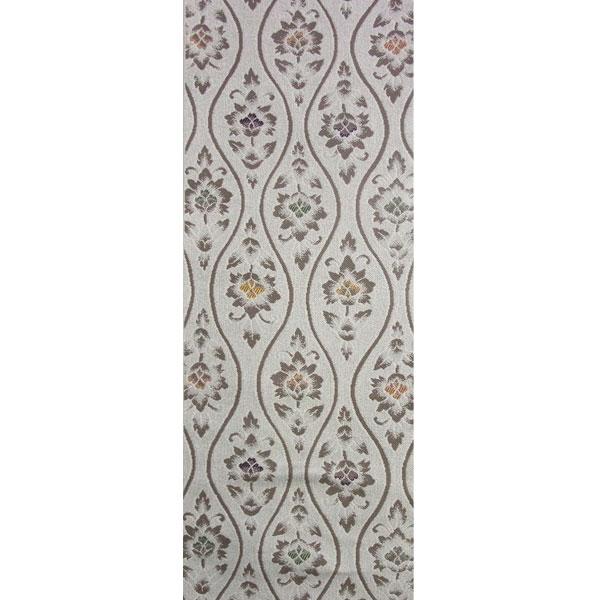 【送料無料】半幅帯 正絹「立湧更紗」 鼠系 京玉響 西陣織