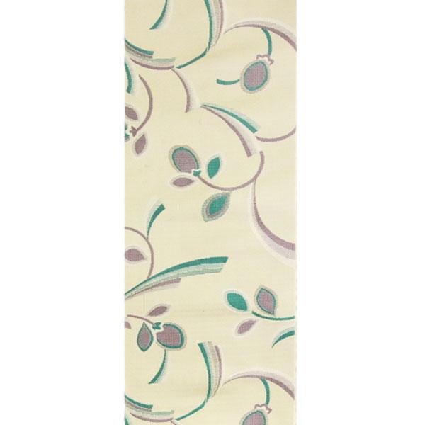 【送料無料】半幅帯 正絹「三ッ葉リボン」 白系 京玉響 西陣織