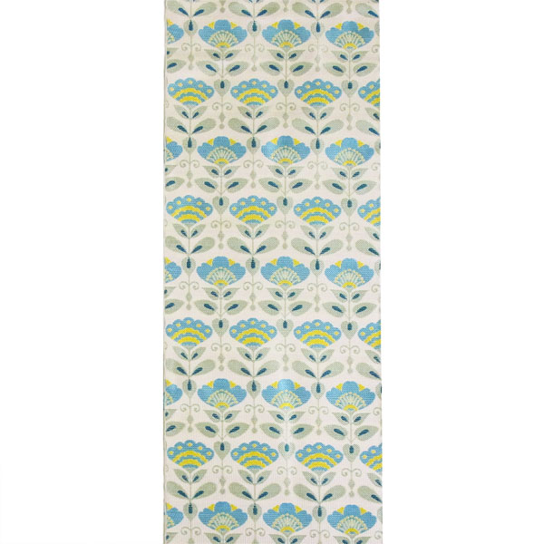 半幅帯 正絹「アールデコ小花」 白系 京玉響 西陣織