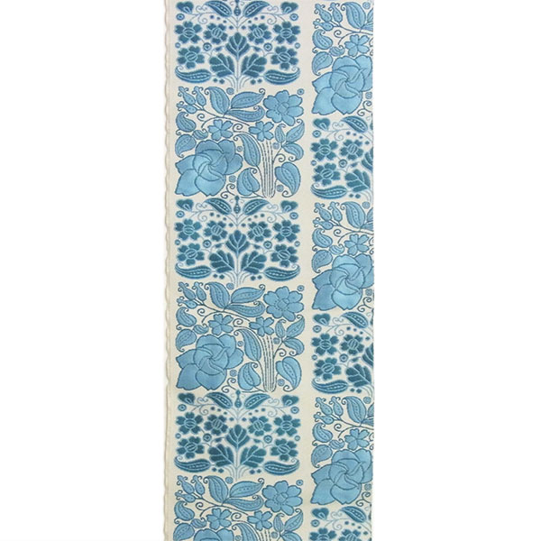 半幅帯 正絹「市松更紗」 白系 京玉響 西陣織