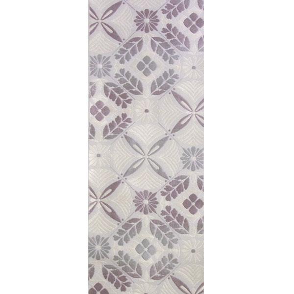 半幅帯 正絹「花松菱割付」 白系 京玉響 西陣織
