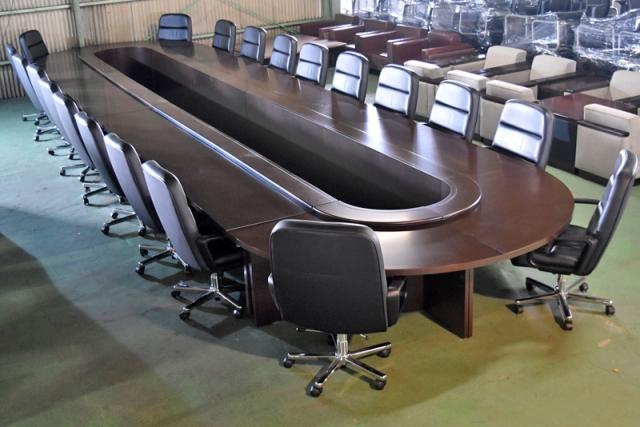 【新着】イトーキ 大型ラウンド会議テーブル+K-8シリーズチェア 会議23点セット W9600 2016060601【中古オフィス家具】【中古】