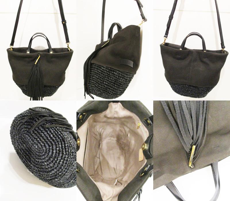 11179cf77873 糸車を回し、紡いだ天然素材と革で作るバッグ。 天然素材と作り手の想い。それらを紡ぎ合わせた素材が生きるデザイン。