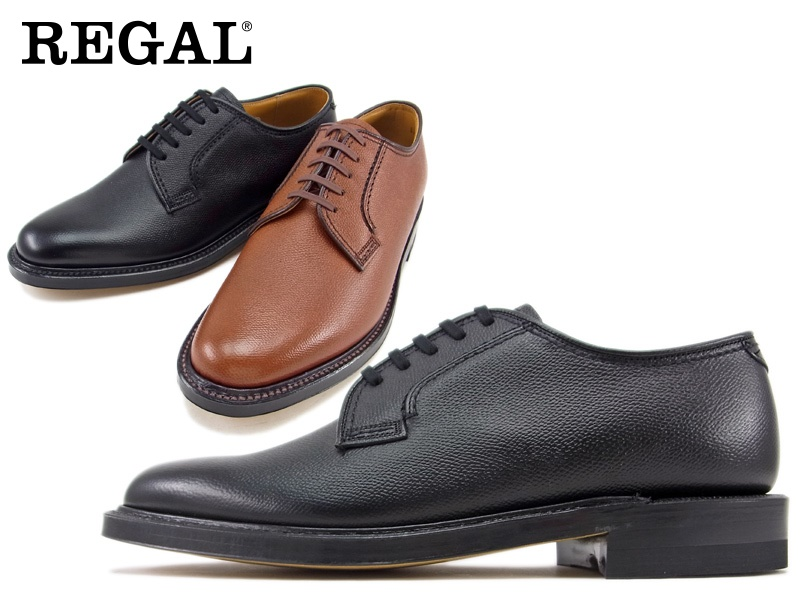 本物 2236NA REGAL ビジネスシューズ 紳士靴 日本製 ビジネスシューズ紳士靴 SALE 送料無料 型押し加工日本製☆グッドイヤーウエルト式製法プレーン アッパー全て本革 本革