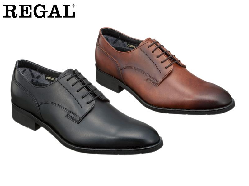 REGAL ビジネスシューズ 日本製 紳士靴 本革 ギフト アッパー全て本革☆ゴアテックスRファブリクス 送料無料 34HRBB ハイヒールのプレーントウビジネスシューズ紳士靴 SALE開催中