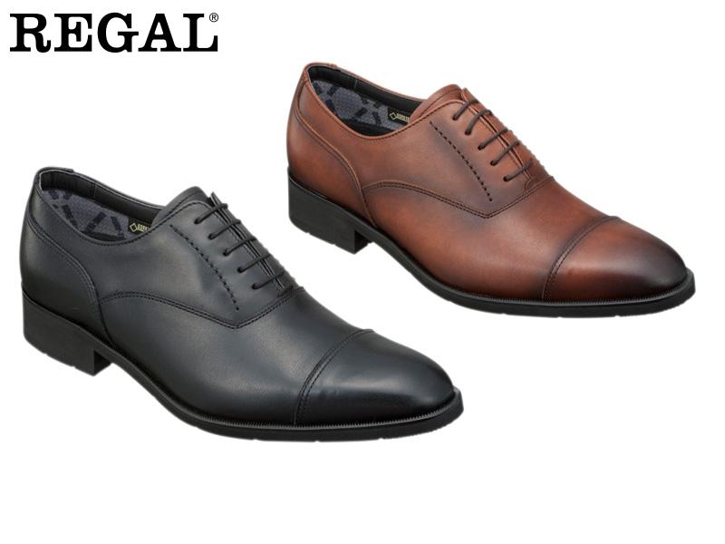 REGAL ビジネスシューズ 日本製 紳士靴 本革 35HRBB アッパー全て本革☆ゴアテックスRファブリクス ハイヒールのストレートチップビジネスシューズ紳士靴 送料無料 ショップ スピード対応 全国送料無料