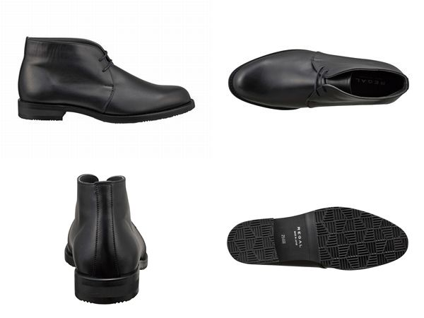 【40NRBD4】【REGAL】【送料無料】【日本製】【雪道対応ソール仕様】アッパー全て本革☆ゴアテックス(r)ファブリクス 幅広3E チャッカーブーツビジネスシューズ紳士靴