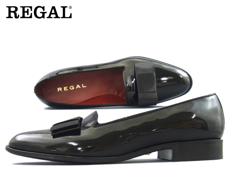 【425RBD】【REGAL】【送料無料】【日本製】アッパー全て本革☆エナメルオペラパンプスビジネスシューズ紳士靴