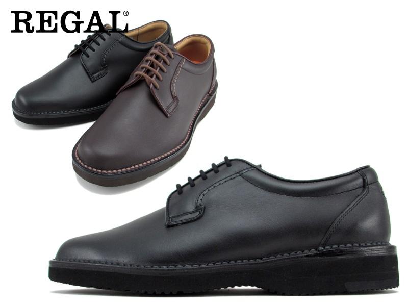 Regal Walker 使い勝手の良い ビジネスシューズ 紳士靴 送料無料 本革 アッパー全て牛革☆ 3Eプレーントウビジネスシューズ紳士靴 トラスト 幅広 601WAH1 ステッチダウン式