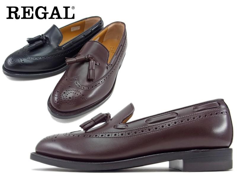 JE03AH REGAL 送料無料 日本製 バースデー 記念日 ギフト 贈物 お勧め 通販 メーカー公式 アッパー全て本革☆グッドイヤーウエルト式ウイングタッセルビジネスシューズ紳士靴