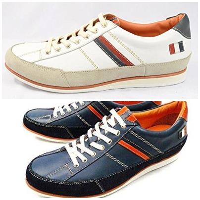 【12126】【CASTELBAJAC】【カステルバジャック】【送料無料】アッパー全て本革☆ゴルフ レザースニーカー紳士靴