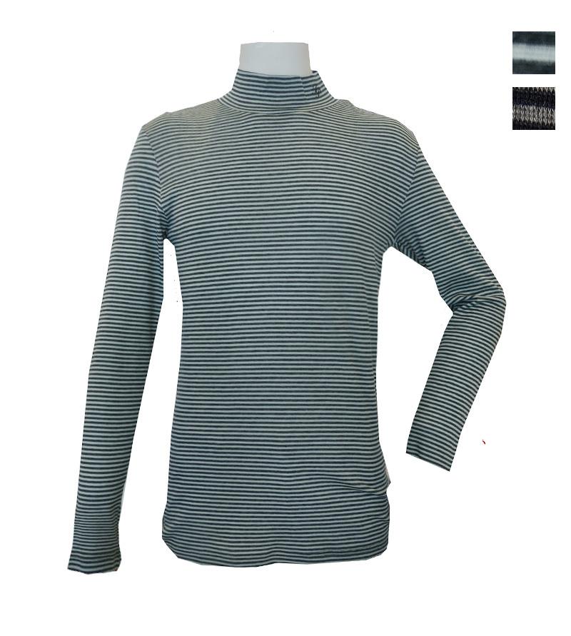 公式サイト ゴルフウェアブランド フェアリーパウダー 公式OnlineShop FairyPowder 秋冬 メンズボーダーハイネックシャツ 開店祝い インナー おしゃれ 全2色 FP20-5101B