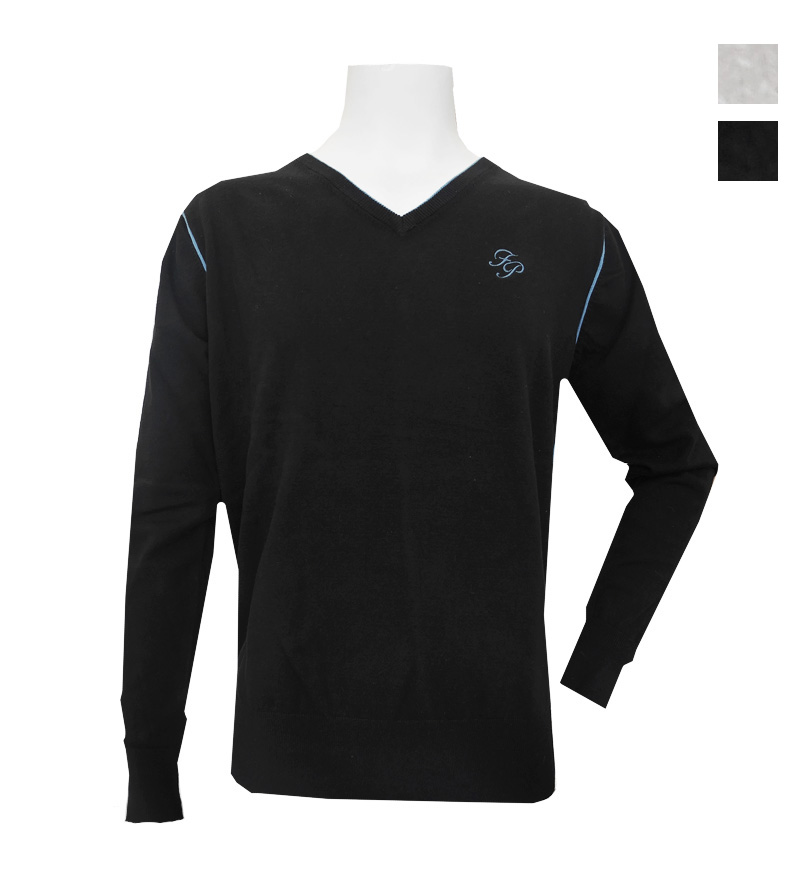 ゴルフウェアブランド フェアリーパウダー 公式OnlineShop FairyPowder 秋冬 全2色 FP20-5105 メンズはみ出し配色Vセーター 注文後の変更キャンセル返品 セーター 超激得SALE おしゃれ