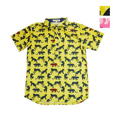 贈与 ゴルフウェアブランド イリッカ 公式OnlineShop PRICEDOWN ILicca ヒョウ柄半袖 shirt 全2色 Polo 品質検査済 IG19-1102