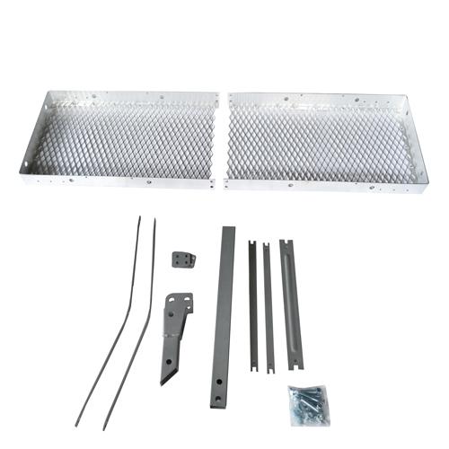 CURT 손수레 트레일러 차질이 설치 되어 (ヒッチメンバー/히 치 리시버) 카고 캐리어 (은색) 접이식 * 2 인치 (5cm) 크기 ※ 알루미늄 × 스틸