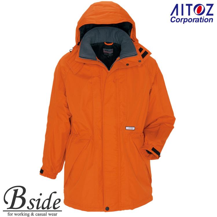 アイトス【AITOZ 6160】★防寒コート 光電子繊維混中綿使用の本格防寒着。