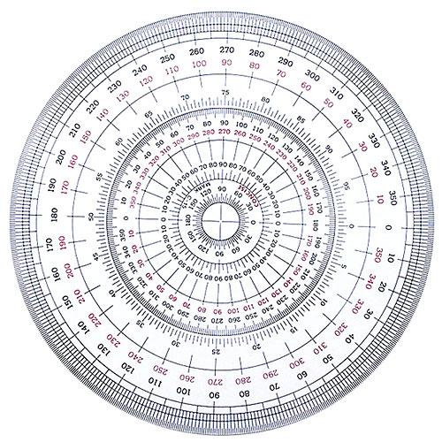メール便可 180°以上も計測可 コンサイス 全円分度器 直径12cm 即出荷 C-12 製図 文具 事務用品 マート 学用品ランキング1位受賞 360度