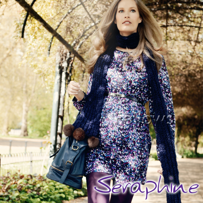 Seraphine セラフィン Alessandra マタニティワンピース-小花柄 サイズ:8(日本サイズ7~9号)