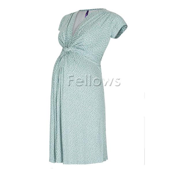 4e1d42332ec15 ... Seraphine Serafin Jolene SS knot front desk dress short sleeves - sage  dot ...