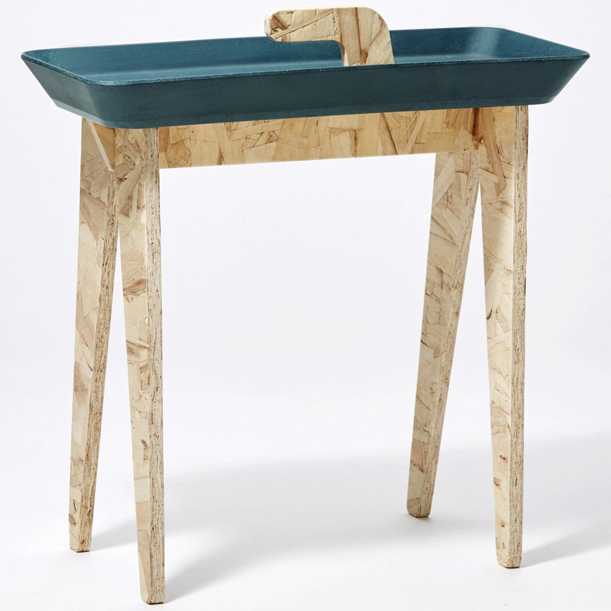 サイドテーブル ideaco タイニーウォーク イデアコ Tiny Walk マットネイビーグリーン