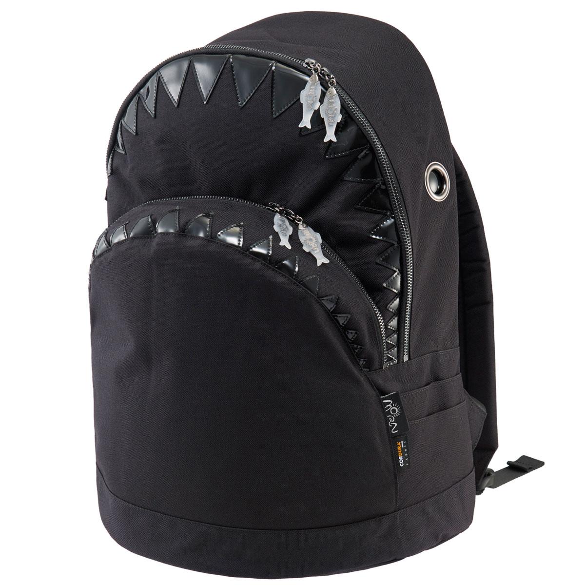【先着順プレゼントあり】リュック MORN CREATIONS シャーク バックパック LL 限定生産 モーンクリエイションズ サメ LLサイズ ブラック