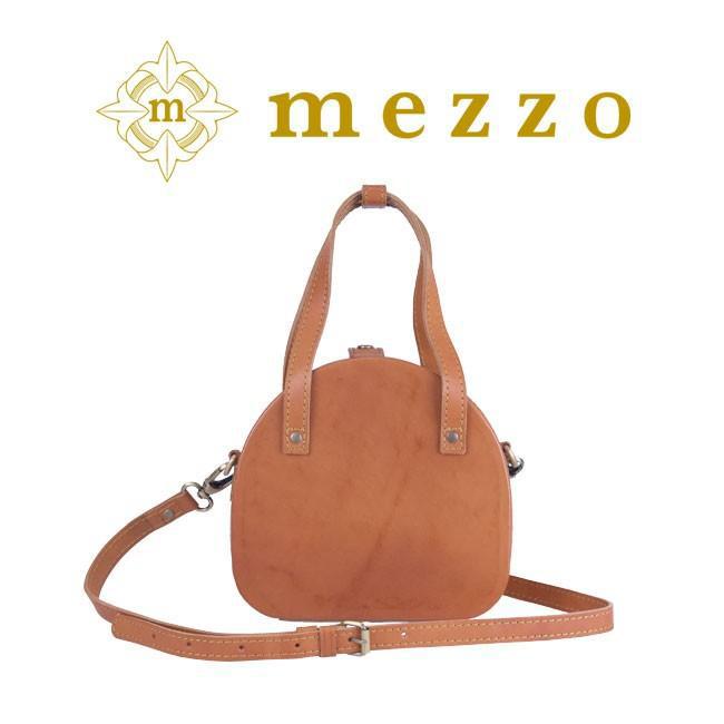 メゾ バッグ MEZOO 革 みんなの視線を独り占めできるレトロ風合いの上質ラウンド2WAYハンドバッグ