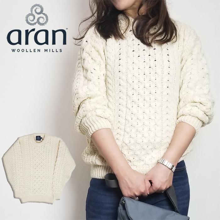 【SALE】アランウーレンミルズ aran woollen mills レディース ニット クルーネック セーター