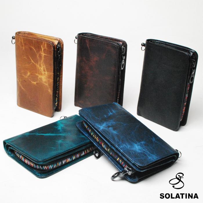 SOLATINA ソラチナ 二つ折り財布 メンズ ホースレザー SW38151